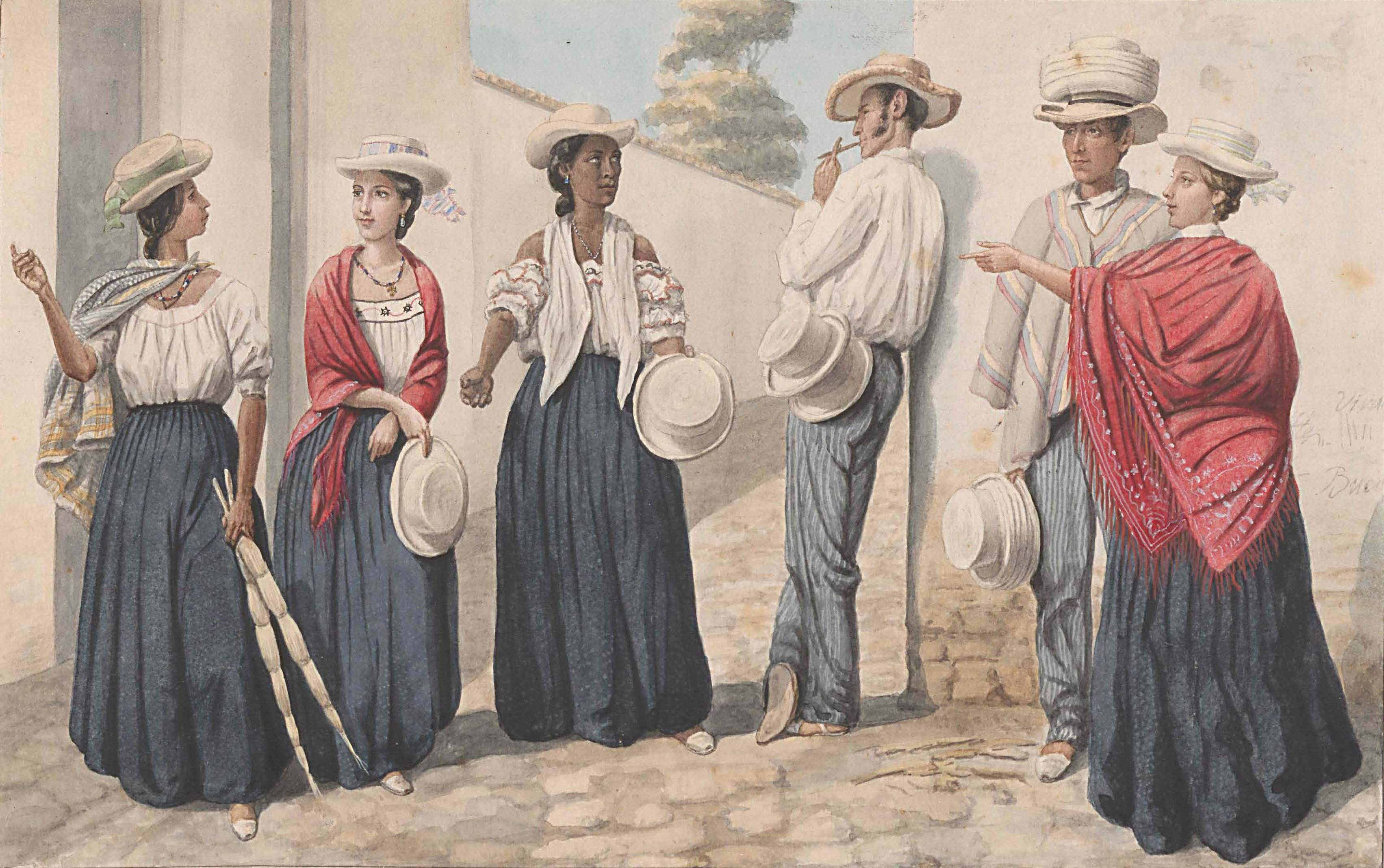 19th century types white mestizo black