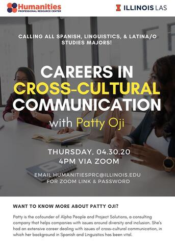 Online career workshop: Careers in Cross-Cultural Communication with Patty Oji