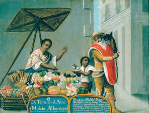 colonial Latin American subjects and food in painting